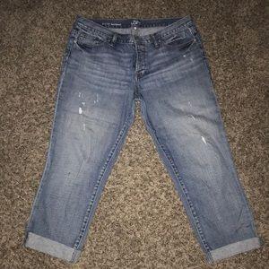 Loft boyfriend ankle jeans